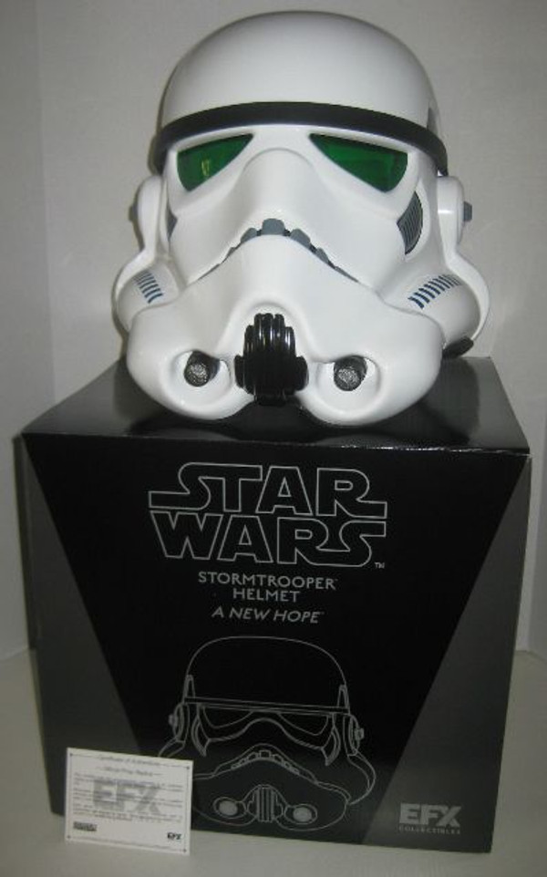 """STAR WARS """"STORMTROOPER HELMET"""" EFX Collectibles Full 1:1 scale TORN BOX"""