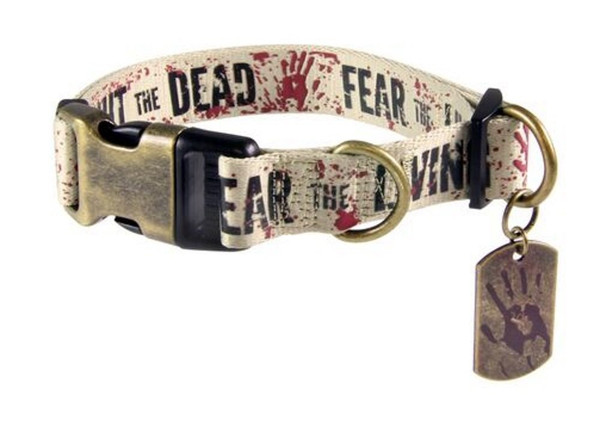 The Walking Dead Fight the Dead / Fear the living Dog Collar LRG 15-22 in. neck