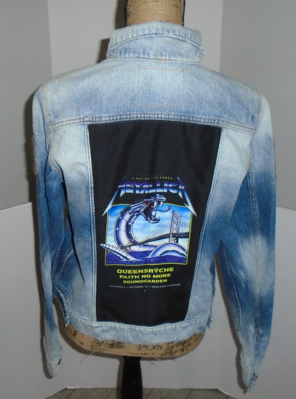 WOLFGANG'S DESIGNS BY DRAGONFLY DENIM JACKET METALLICA WOMEN'S