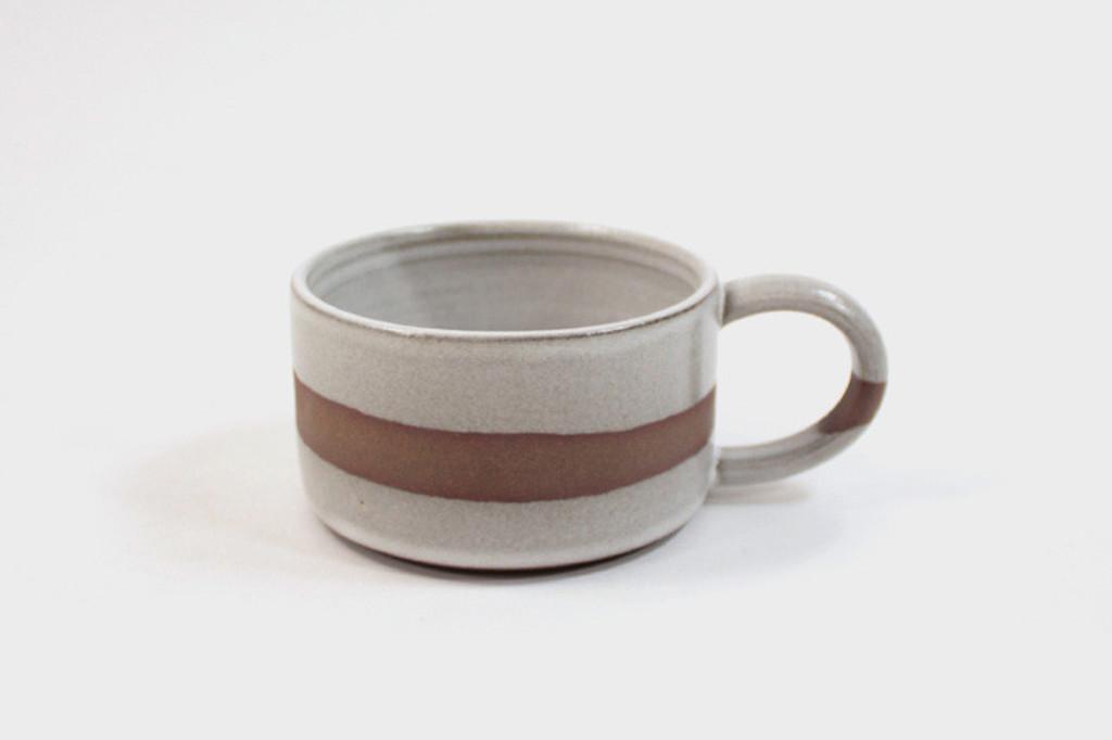 White Stripe Stoneware Mug
