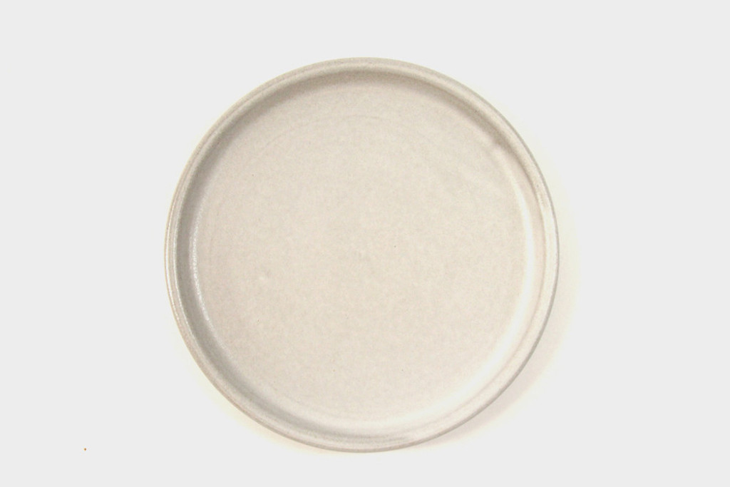White Stoneware Plate