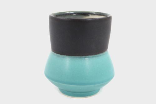 Teal Yunomi Split Cup