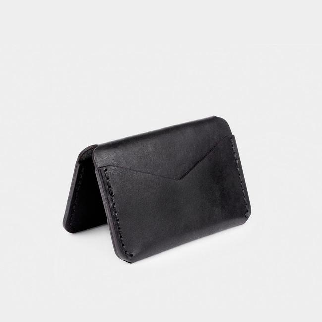 Folding Card Wallet - Black