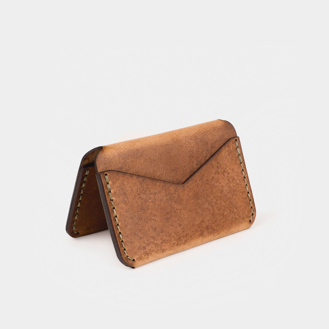 Folding Card Wallet - Tobacco