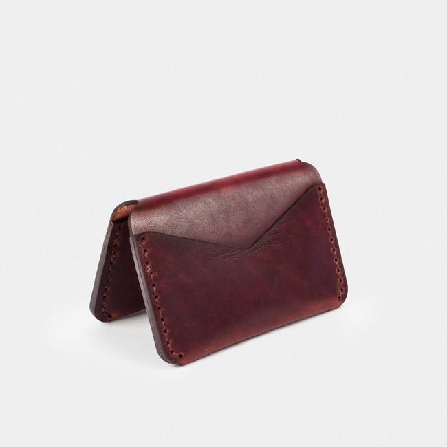 Folding Card Wallet - Burgundy