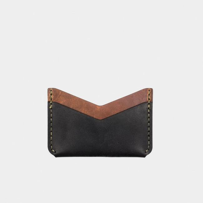 Slim Card Wallet - Tobacco/Black