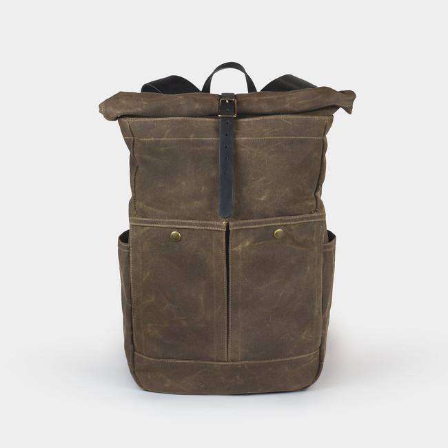 Roll Top Backpack - Tan