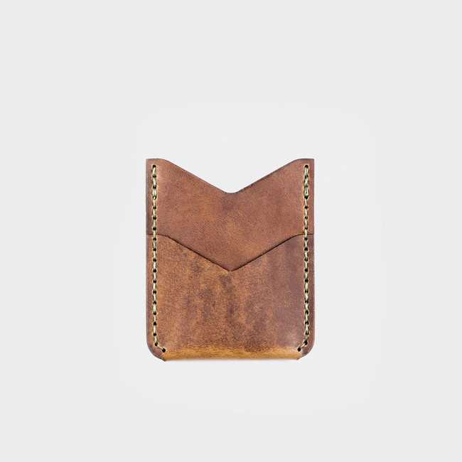 Vertical Card Wallet - Tobacco