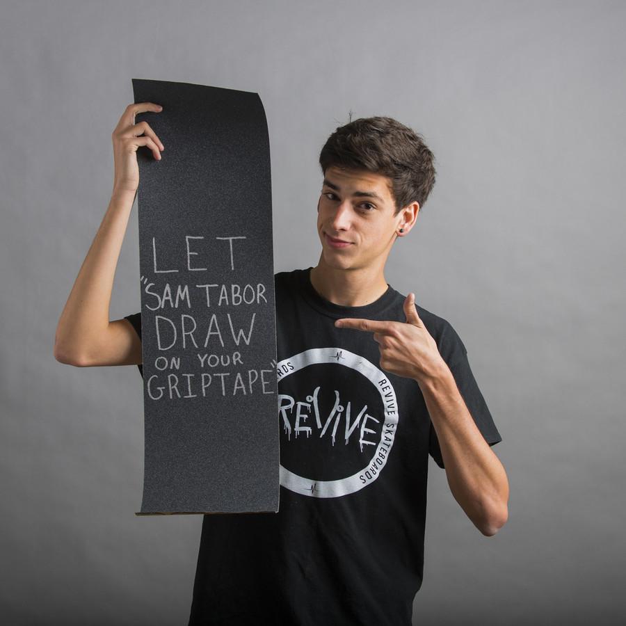 Sam Tabor Draws on Your GripTape