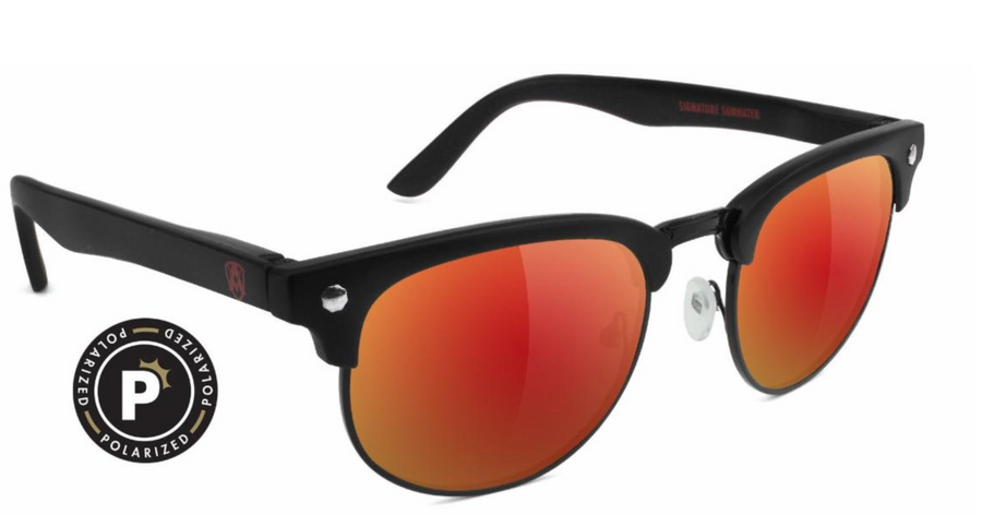 Attach Premium Polarized - Matte Black/Red Mirror
