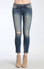 Adriana Ankle Super Skinny in Mid Shaded Glam Vintage Jeans