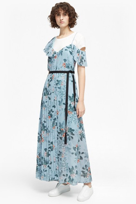 Kioa Drape Scrappy Maxi Dress