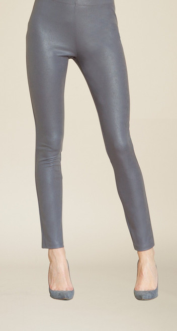 Pull-on Liquid Leather Knit Slim Legging