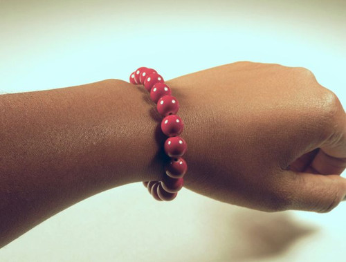 Bead Bracelet {bordeaux}