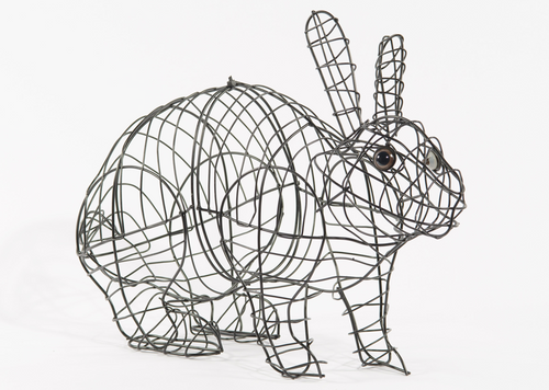 Running Rabbit Small Mossed & Planted Topiary frame