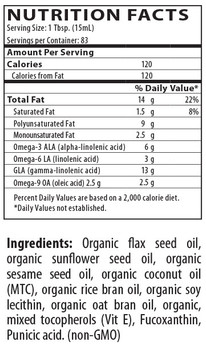 WiO Omega Pro + Liver Cleanse - Nutritional Information