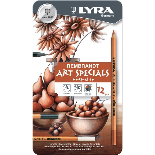 Lyra Rembrandt Art Special Pencils - Assorted Charcoal, Sepia, Chalks, & Graphite