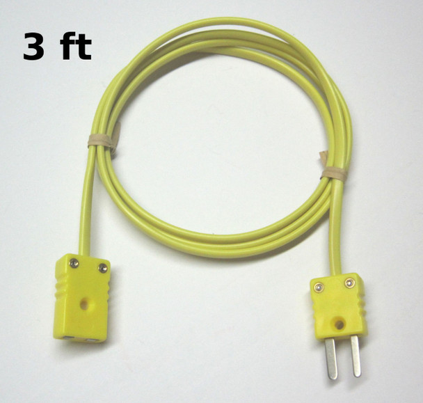 K-Type Thermocouple extension cable wire with miniature mini connector