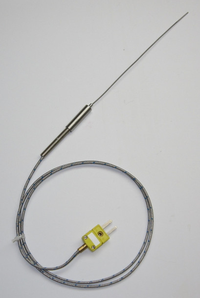 Ultra Thin 1 mm Stainless Steel K-type Thermocouple Probe 6 inch