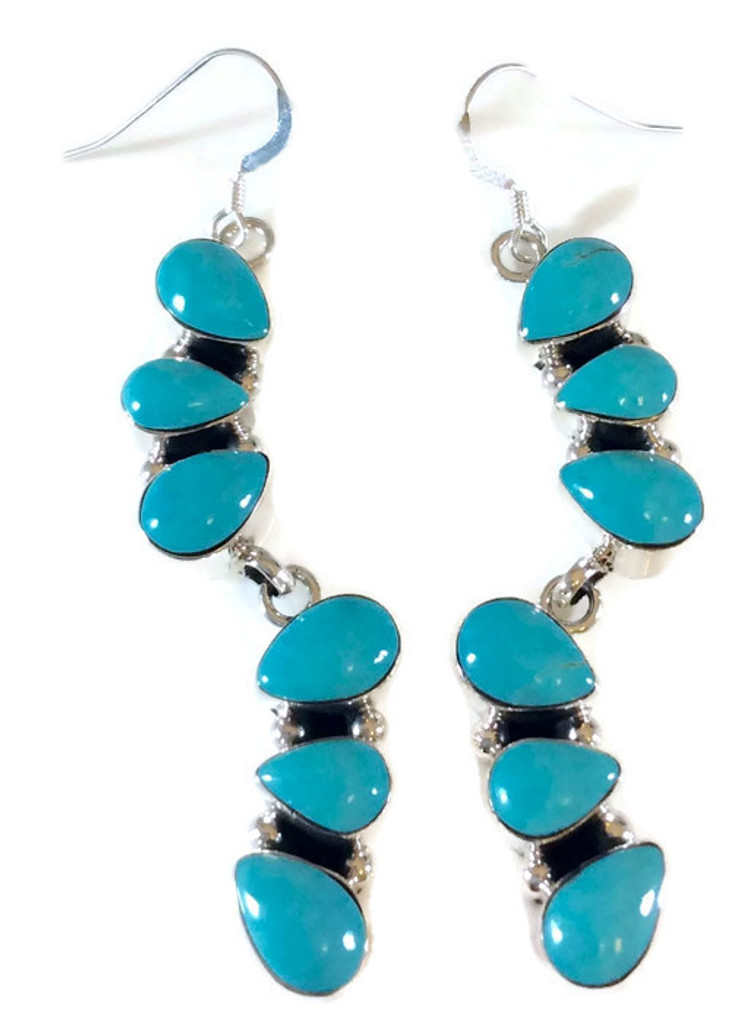 Turquoise Drop Earrings Artist: Loretta Smith