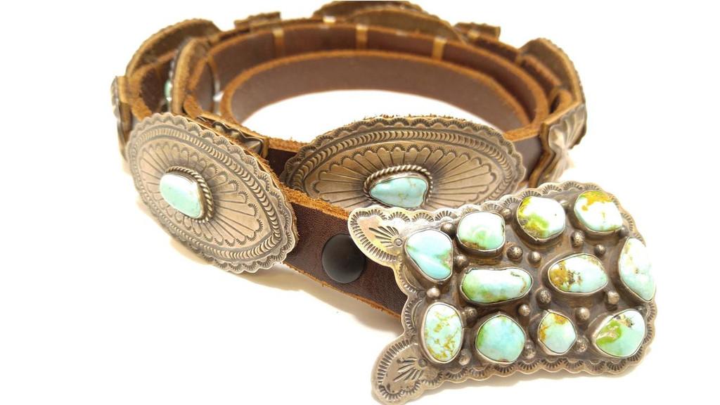 Kingman Turquoise Concho Belt
