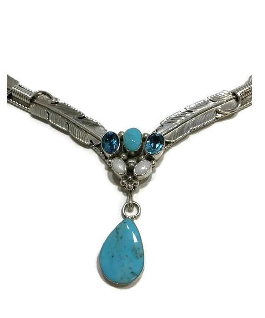 Chaco Canyon Couture Turquoise, Topaz, & Opal Necklace