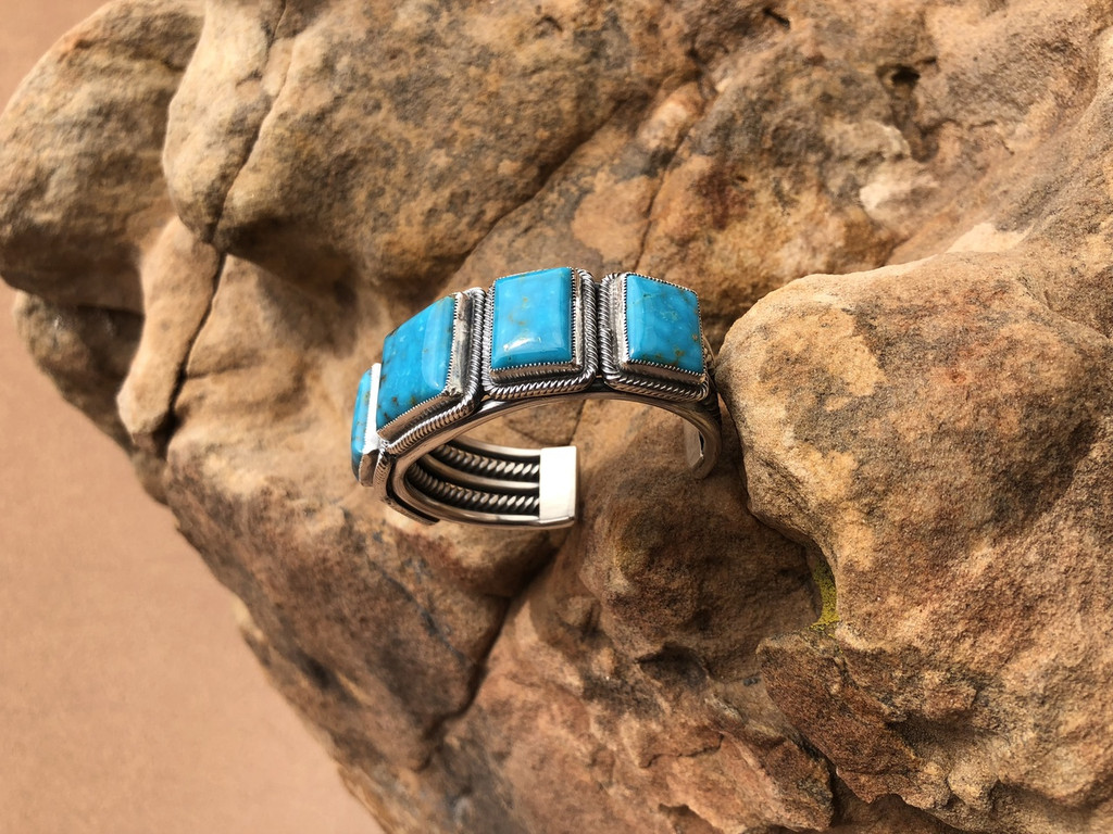 Chaco Canyon Kirk Smith Turquoise Cuff Bracelet