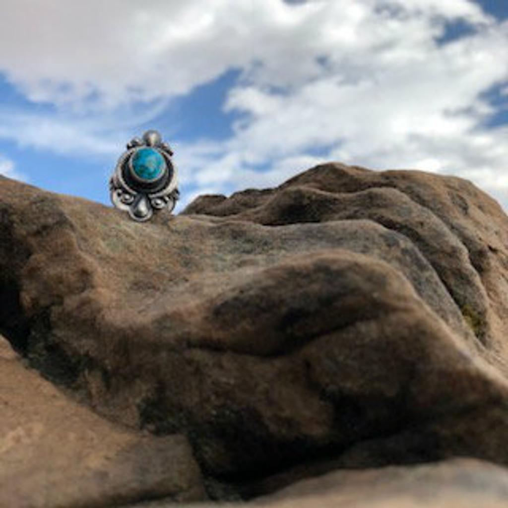 Chaco Canyon Derek Gordon Turquoise Ring