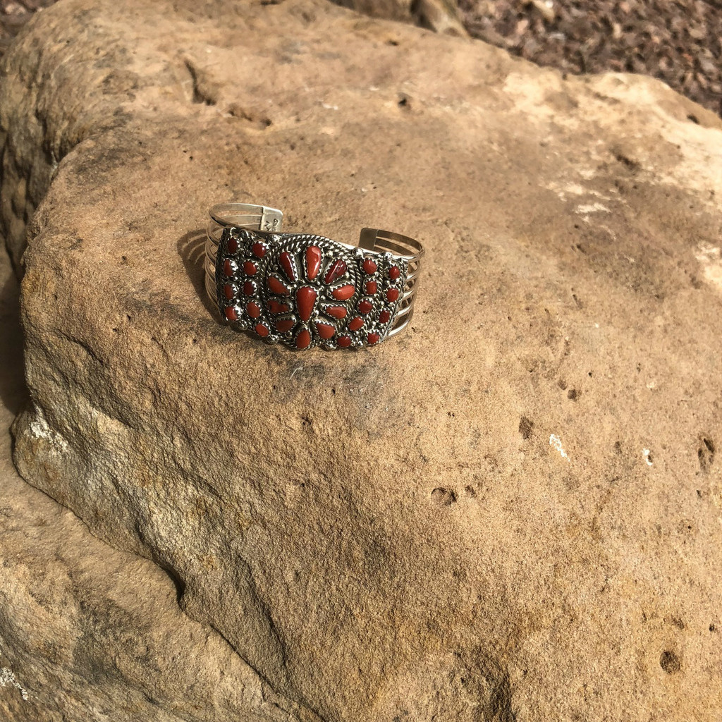 Chaco Canyon Coral Cuff Bracelet