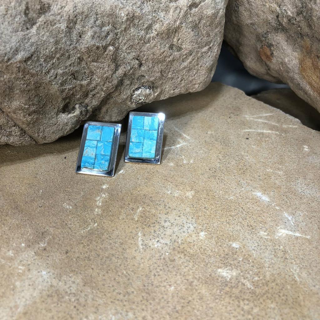 Chaco Canyon Inlay Turquoise Earrings