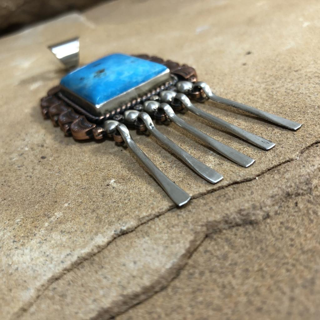 Chaco Canyon Silver & Copper Pendant