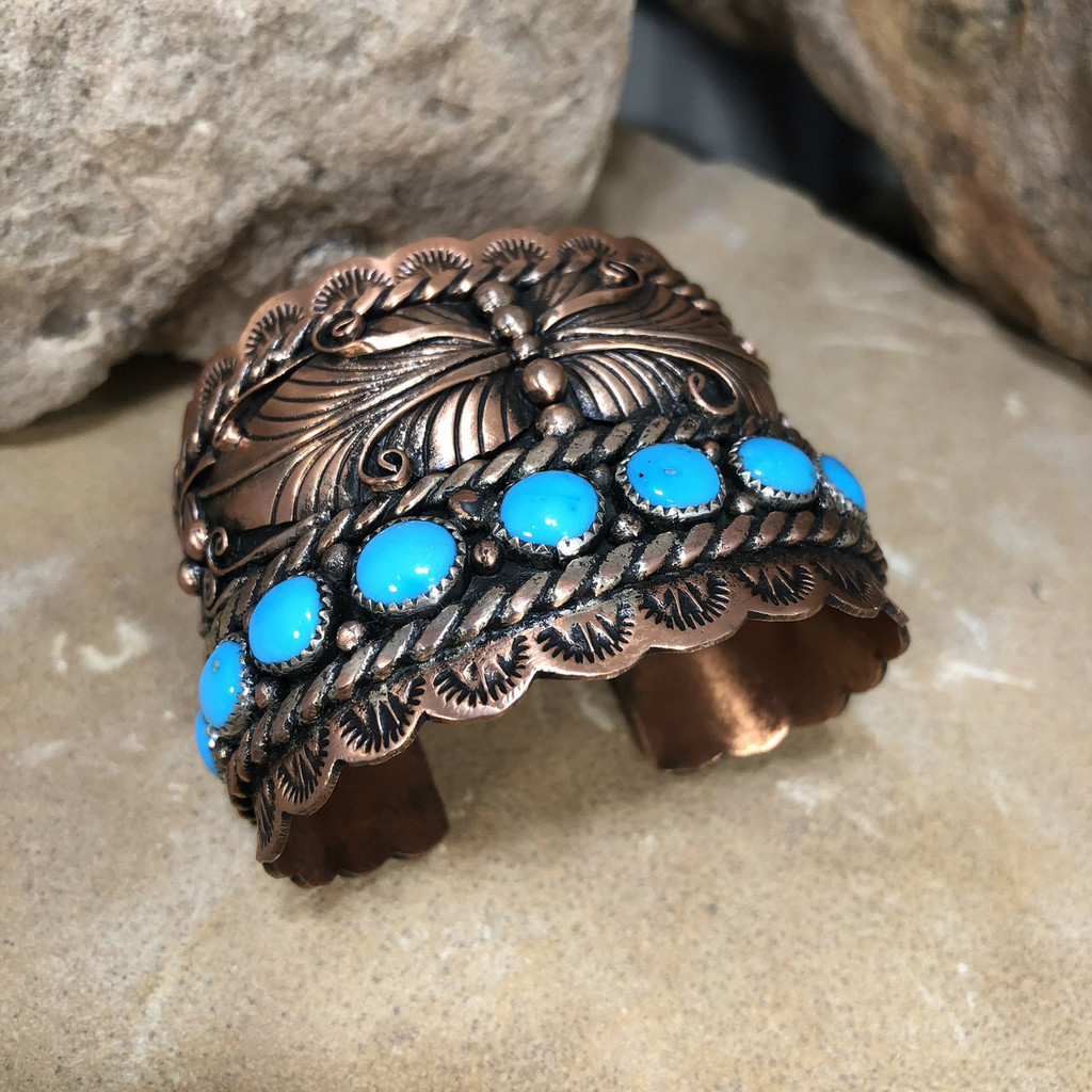 Chaco Canyon 10 Stoned Copper Cuff Bracelet