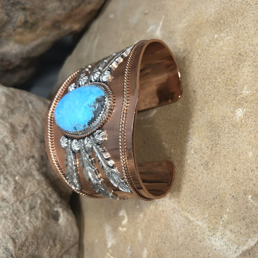 Chaco Canyon Silver & Copper Mens Cuff Bracelet