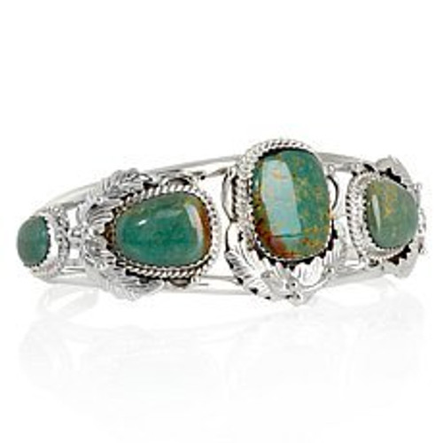 Kingman turquoise  Handcrafted in the USA Sterling Silver