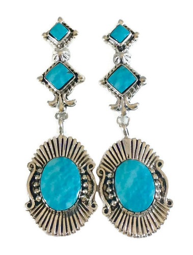 Kingman Turquoise  Dangle Earrings