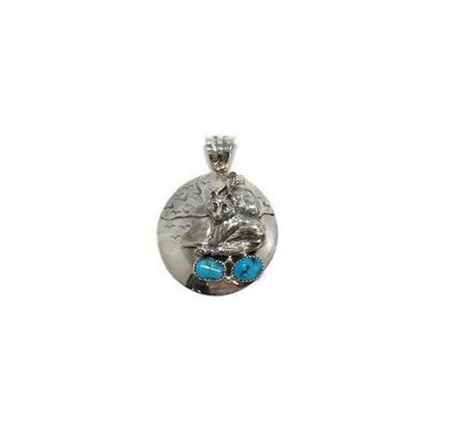 Sleeping Beauty Coyote Pendant