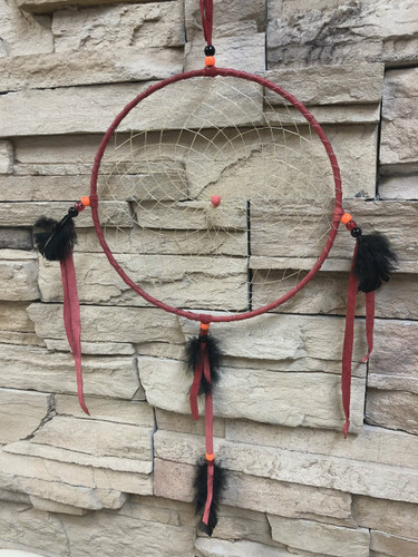 Chaco Canyon Artifact Medium Red Dream Catcher