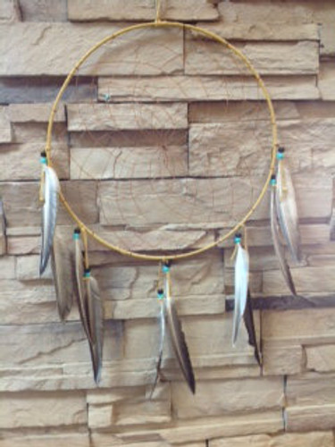 Chaco Canyon Artifact Dream Catcher with feathers