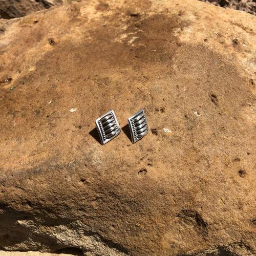 Chaco Canyon Thomas Charlie Silver Earrings