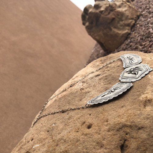 Chaco Canyon Silver Necklace