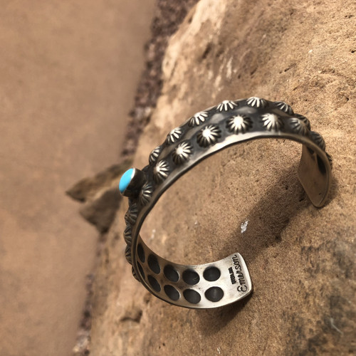Chaco Canyon Turquoise & Silver Cuff Bracelet