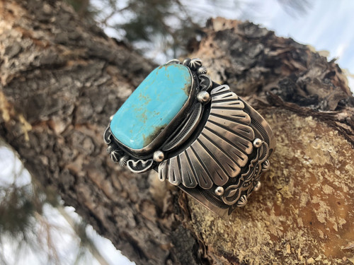 Chaco Canyon Mens Turquoise Cuff Bracelet