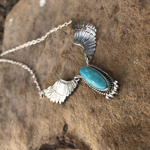 Chaco Canyon Turquoise Winged Necklace