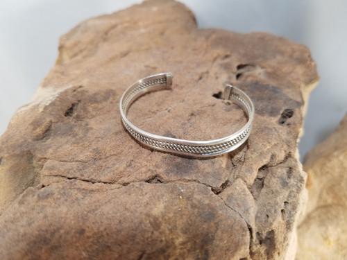 Silver Baby Cuff Bracelet