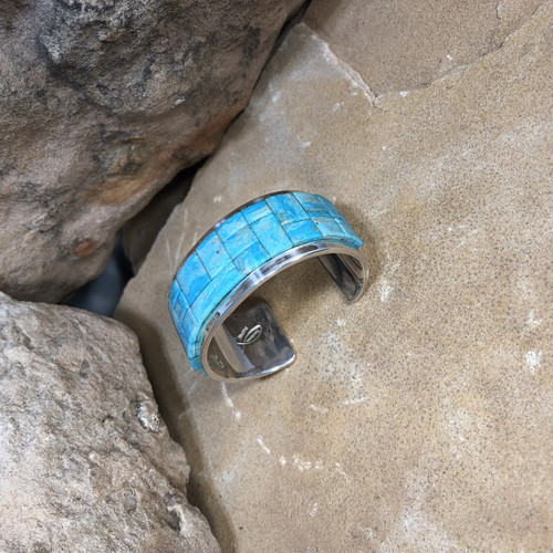 Chaco Canyon Inlay Turquoise Cuff Bracelet