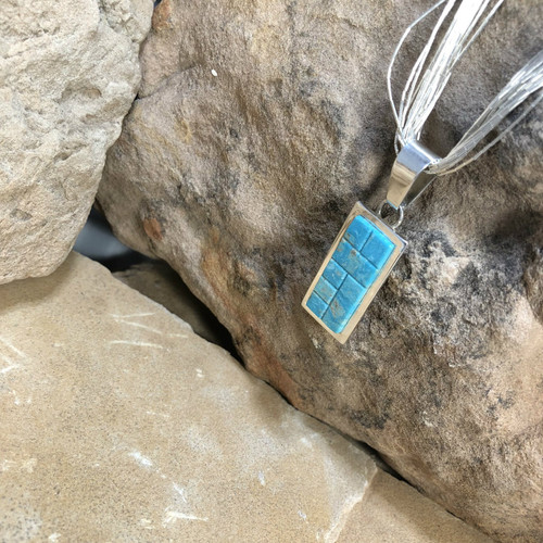 Chaco Canyon Inlay Turquoise Necklace