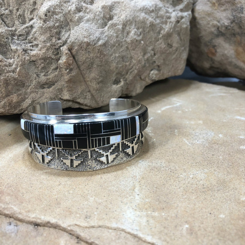 Chaco Canyon Navajo Inlay Overlay Cuff