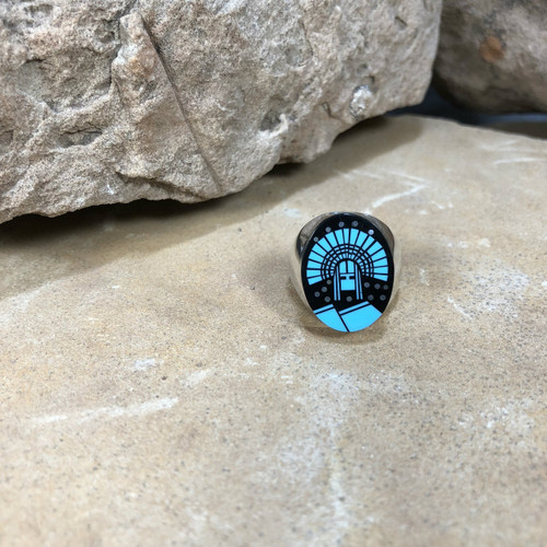 Chaco Canyon Inlay Silver Ring