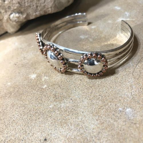 Chaco Canyon Silver & Copper Cuff Bracelet