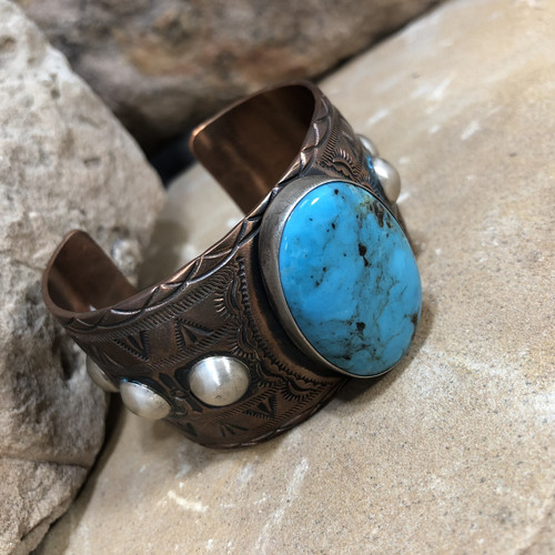 Chaco Canyon Copper & Silver Cuff Bracelet